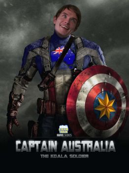 Captain Australia - Game Grumps Movie Poster by EyebrowScar