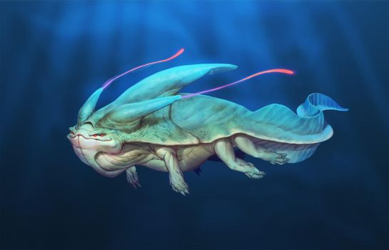 Alien Sea Creature by MarcBrunet