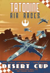 Star Wars Vintage Air Race Poster by PaulRomanMartinez