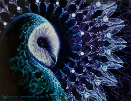She Sees All - painting by Ka Amorastreya by serpentfeathers