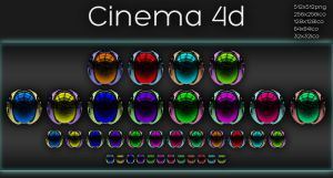Cinema 4d icons by xylomon