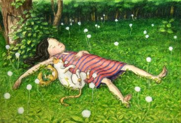 A bed of dandelion by perodog