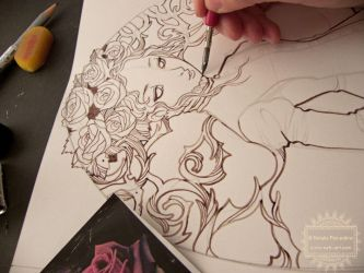The Maiden of Rose Flowers - Work in progress by nati