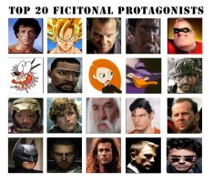 Top 20 Fictional Protagonists by MyNameIsArchie