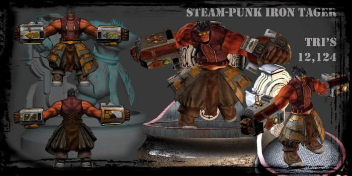 3D Steam Punk Iron Tager by amehroke