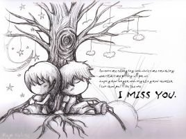 Missing you by mayo-naise
