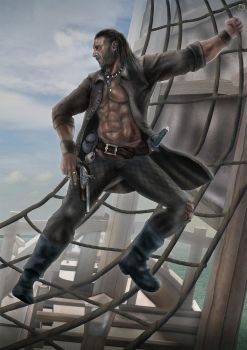 Charles Vane of the Ranger by cagdasdemiralp