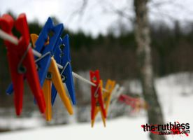 Snowy Clothespin Conspiracy by the-ruthless