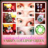 First Pair of Pinky Paradise Circle Lens by VisualEyeCandy