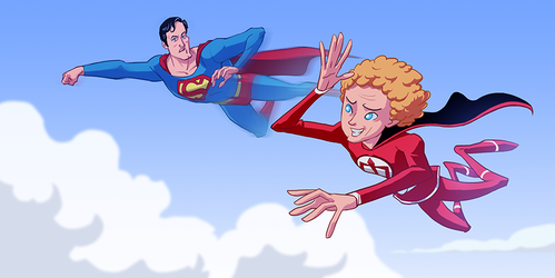 Greatest American Hero and Superman by pungang
