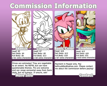 COMMISSIONS [CURRENTLY CLOSED] by SonicsChilidog