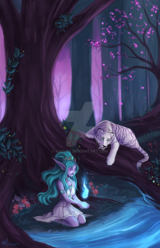 May Elune Light your Path by Kayley