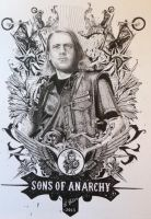 Sons of Anarchy Poster drawing by Ned-The-Hat