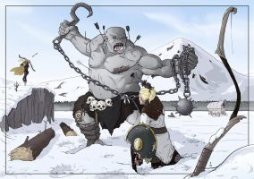 Commission: An Ogre's Brutality by StefanoMarinetti