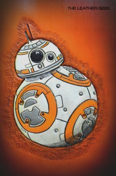 Star Wars BB-8 droid Leather Journal by CoreyChiev