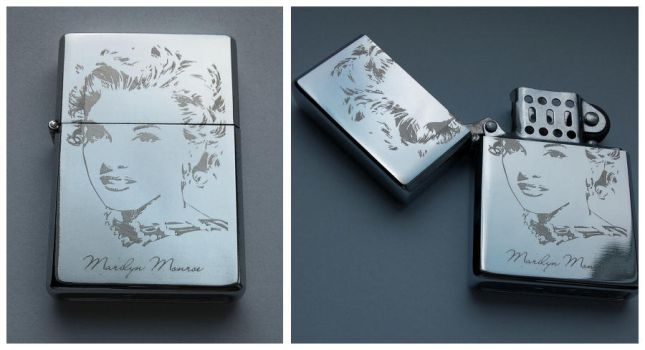 MARILYN MONROE - engraved lighter by Piciuu