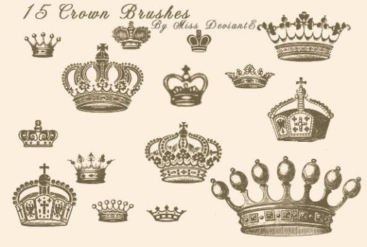 Crown Brushes by Miss-deviantE