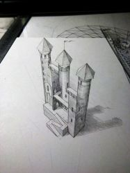 Impossible castle 3D by EvgenyS