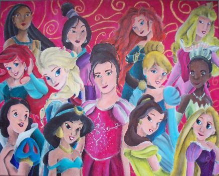 Mel and the Princesses by billywallwork525