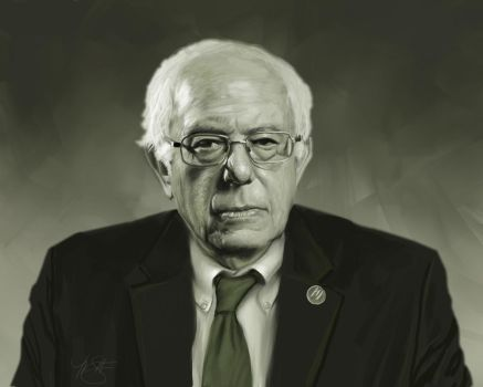 Bernie Sanders Portrait by timothysmithdesign