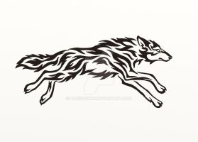 Running Wolf - Flame by Hareguizer