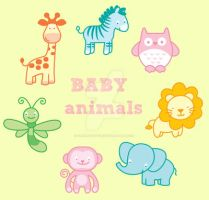 Cute animals for baby decoration by CherryFactory