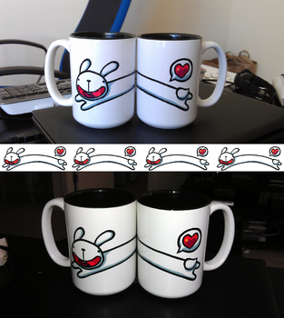Long Bunny Leap Mug by cjcat2266