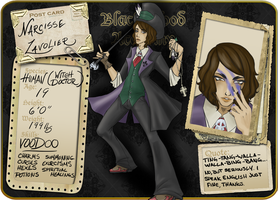 Narcisse Lavolier Ref Sheet by heavenlyjustice