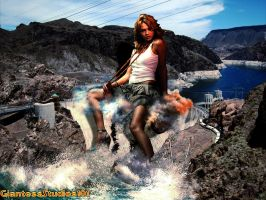 Giantess Jessica Alba, Dam Girl !!! by GiantessStudios101