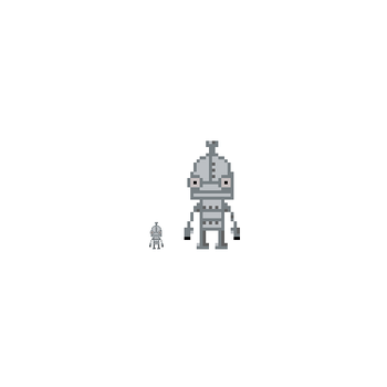 8 bit Joseph from Machinarium by legice