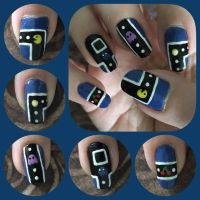 Pacman Nail Art 2017 Right by MikariStar