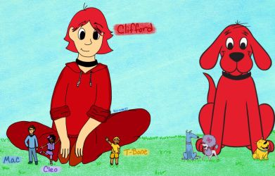 Clifford and Friends (Humanized) by Ice-Cove27