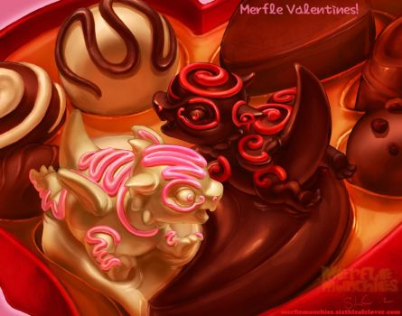 Merfle Valentines by The-SixthLeafClover