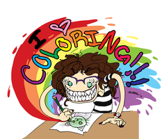 I LOVE COLORING - badge by Evilduckie227
