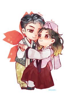 Chibi Couple Commission by bakpaobeku