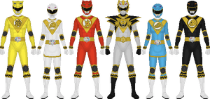 Commission: Genjyu Sentai Shinseiger by Taiko554