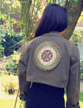 Upcycled Bohemian Cropped Jacket by TheBohemianDream
