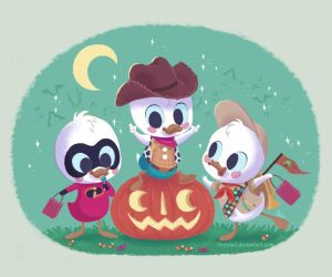huey, dewey, and louie by tinysnail