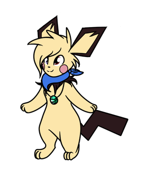 Sawyer the Pichu by Flutter-Rays
