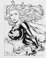 Oct2015 Supergirl Sketch by TyRomsa