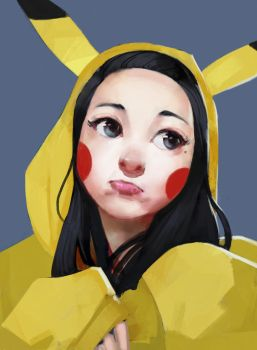 Pika Girl by samuelyounart