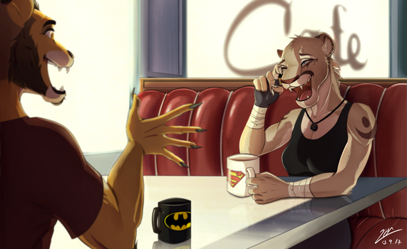 [AT] Super Hero Cafe by cybercortex