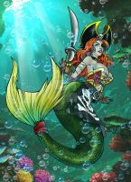 Special Commission - Pirate Mermaid by shonemitsu