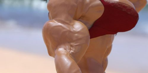 Girl bodybuilder 6 by TheRedCrown