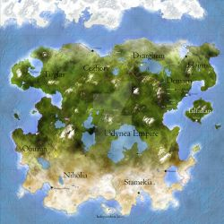 Map of the Spellster Realm by AldreaAlien