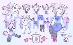 Adopt Auction - white cat (CLOSED) by Ansihimi