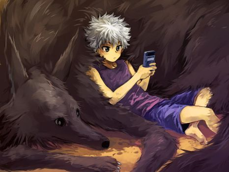 Killua and Mike by nuriko-kun