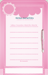 Pink Stationary Journal Skin