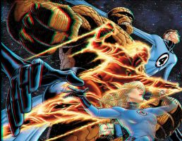 Fantastic Four Anaglyph by xmancyclops
