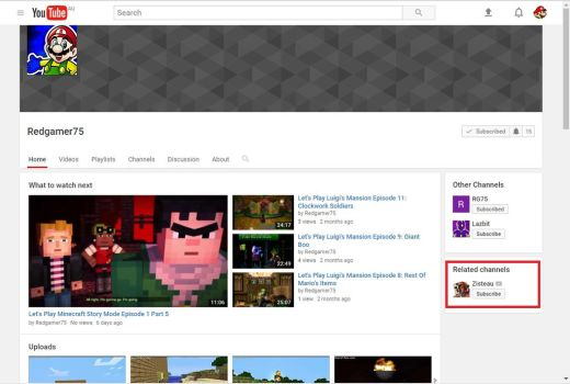 Look who's in my related channels section! by redgamer75